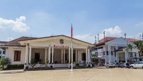 Borgmästare Office Balaikota i Bogor, västra Java, Indonesien Royaltyfri Bild