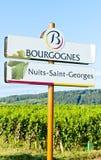 Borgoña, Francia Imágenes de archivo libres de regalías