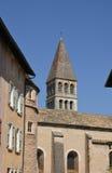 Borgoña, la ciudad pintoresca de Tournus en Saone y el Loira Imagen de archivo