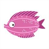Borgoña y pescados coloridos fantásticos del acuario del rosa, animal acuático del filón tropical stock de ilustración