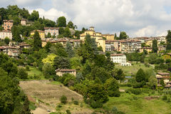 Borgo Canale view, Bergamo Royalty Free Stock Images