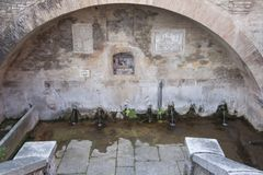 Borgo Castell ` Arquato Piacenza Italië Royalty-vrije Stock Afbeeldingen