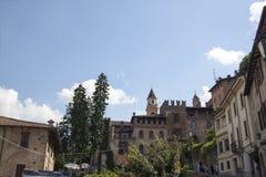 Borgo Castell ` Arquato Piacenza Italië Stock Afbeeldingen