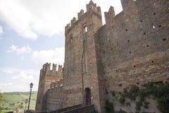 Borgo Castell ` Arquato Piacenza Italië Royalty-vrije Stock Fotografie