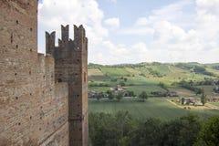 Borgo Castell ` Arquato Piacenza Italië Stock Foto