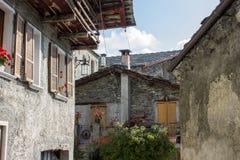 Borgo di chiamale, Piemonte Royaltyfria Bilder