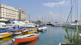 Borgo Marinari της Νάπολης - της Ιταλίας απόθεμα βίντεο