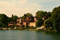 Borgo Medievale Turijn Royalty-vrije Stock Foto's