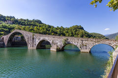 Borgo a Mozzano's bridge of the Devil, Lucca, Tuscany, Italy Stock Images