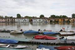 borgo powodzi Pavia ticino Fotografia Stock