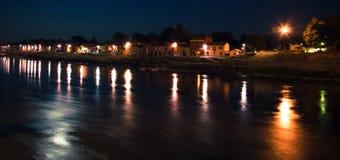 Borgo Ticino noc Zdjęcia Stock