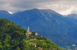 Borgo Valsugana Castel Telvana Fotografie Stock