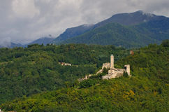 Borgo Valsugana Castel Telvana Immagini Stock