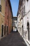 Borgo Velino Rieti, Λάτσιο, Ιταλία, παλαιά οδός Στοκ Φωτογραφία