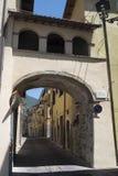 Borgo Velino Rieti, Λάτσιο, Ιταλία, παλαιά οδός Στοκ Φωτογραφίες