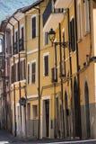 Borgo Velino Rieti, Λάτσιο, Ιταλία, παλαιά οδός Στοκ φωτογραφία με δικαίωμα ελεύθερης χρήσης