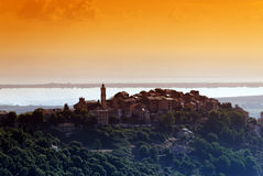 Borgo wioska w Corsica Obraz Stock