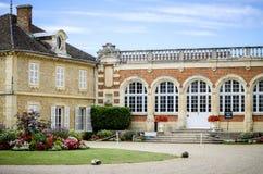 Borgogna, Montrachet Chateau de Meursault Υπόστεγο δ ` ή Γαλλία στοκ εικόνα με δικαίωμα ελεύθερης χρήσης