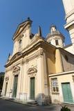 Borgonovo Ligure (Genova, italy), historic church. Borgonovo Ligure (Genova, Liguria, italy), facade of historic church royalty free stock image