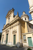 Borgonovo Ligure (Genua, Italië), historische kerk royalty-vrije stock afbeelding