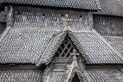 borgund教会梯级 修造在1180年到1250和致力Th 免版税库存照片