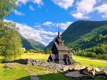Borgund梯级教会,挪威 免版税库存照片