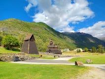 Borgund梯级教会,挪威 库存照片