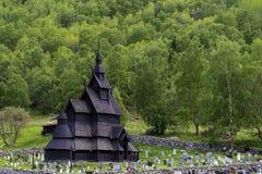 Borgund梯级教会  图库摄影