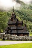 Borgund ударяет stavkyrkje церков в Норвегии стоковые фотографии rf