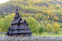 Borgund Daube-Kirche Stockfotografie