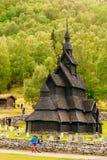 Borgund klepki Stavkirke cmentarz I kościół, Fotografia Royalty Free