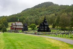 Borgund Stave Church in Norway Royalty Free Stock Image