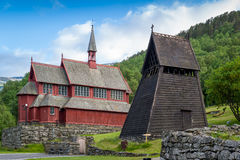 Borgund old wooden bell tower Royalty Free Stock Photo