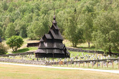Borgund stave church. Typical norwegian wooden church, Sogn of Fjordane, Norway Stock Photography