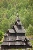 Borgund stave church. Typical norwegian wooden church, Sogn of Fjordane, Norway Royalty Free Stock Photos