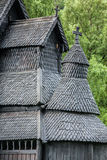 Borgund Stave church. Built in 1180 to 1250, and dedicated to th Royalty Free Stock Photos
