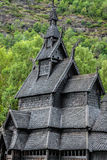 Borgund Stave church. Built in 1180 to 1250, and dedicated to th. E Apostle St. Andrew Royalty Free Stock Photography