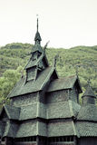 Borgund Stave church. Built in 1180 to 1250, and dedicated to th Stock Image