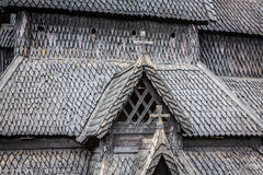 Borgund Stave church. Built in 1180 to 1250, and dedicated to th. E Apostle St. Andrew Royalty Free Stock Photo