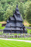 Borgund Stave church. Built in 1180 to 1250, and dedicated to th Stock Photo