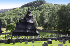 Borgund Stave church. Built in 1180 to 1250, and dedicated to th Stock Photography