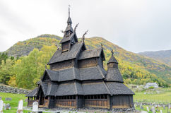 Borgund Stave church Royalty Free Stock Images