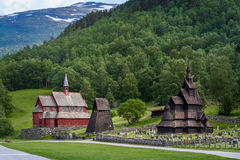 Borgund Stave Church complex Stock Photography