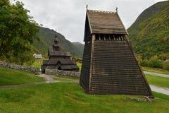 Borgund Stave Church, Noorwegen Royalty-vrije Stock Foto's