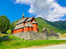 Borgund Stave Church, Noorwegen Royalty-vrije Stock Afbeeldingen