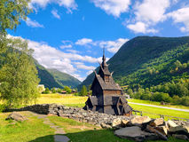 Borgund Stave Church, Noruega Fotos de Stock Royalty Free