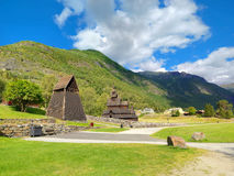 Borgund Stave Church, Noruega Foto de Stock