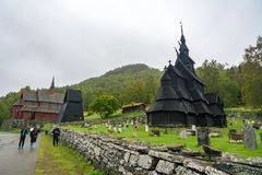 Borgund Stave Church in Norway Royalty Free Stock Photography