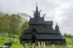 Borgund Stave Church in Norway Royalty Free Stock Photo