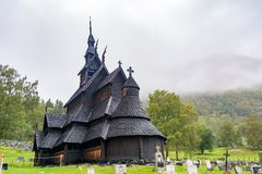 Borgund Stave Church in Norway Stock Image
